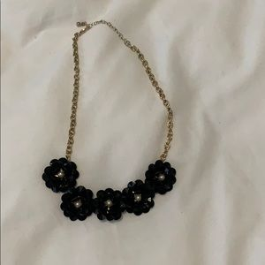 Forever 21 Jewelry - Black Floral Statement Necklace